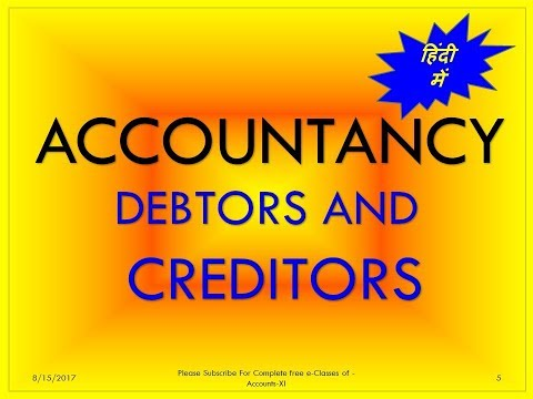 Definition   Debtors and Creditors
