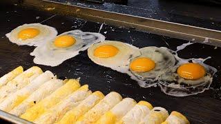 줄서서 먹는 전복 계란말이 김밥 egg rolls gimbap / korean street food / 동문 야시장