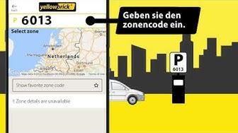 Parken mit einem deutschen nummernschild in den Niederlanden