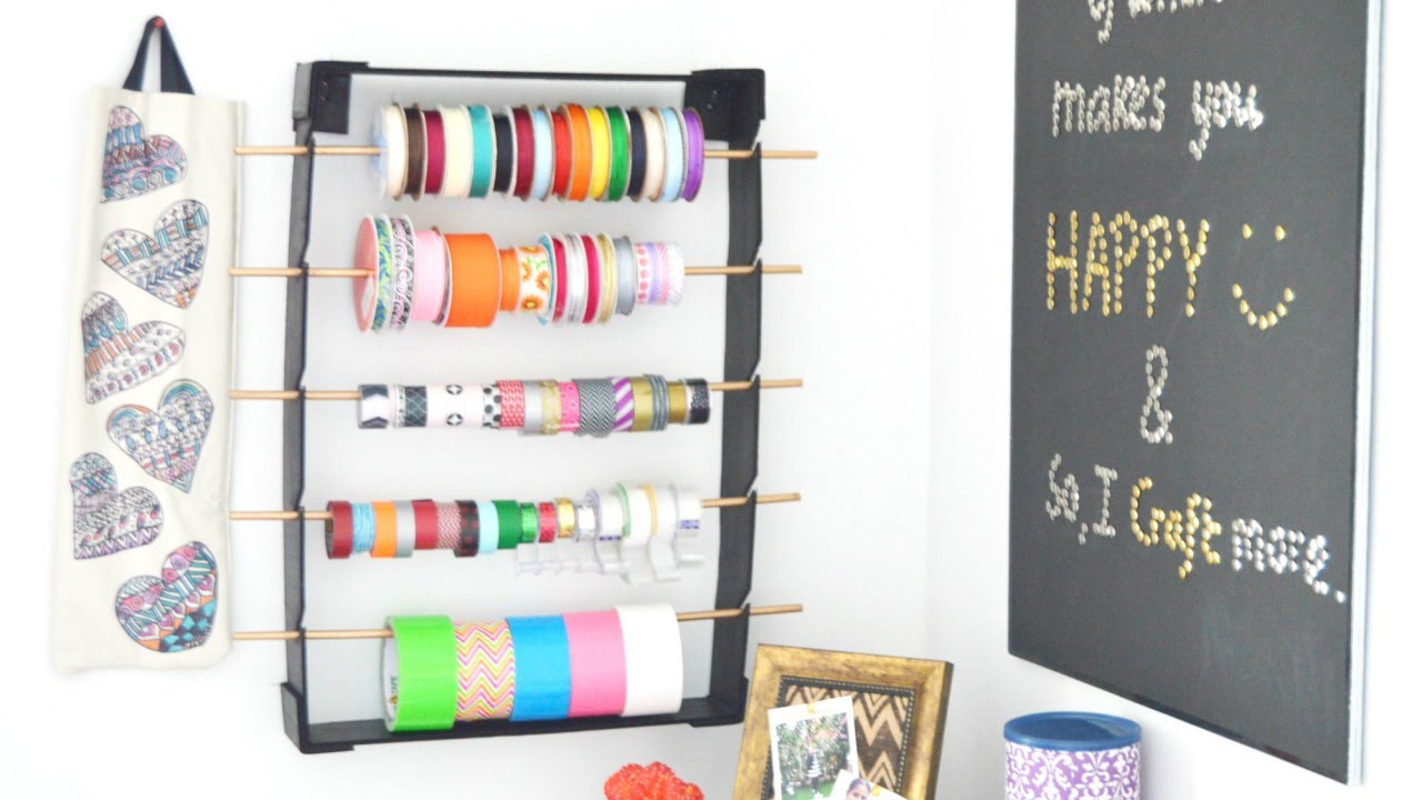 Make a ribbon and tape organizer on a budget diy home make a ribbon and tape organizer on a budget diy home guidecentral solutioingenieria Image collections