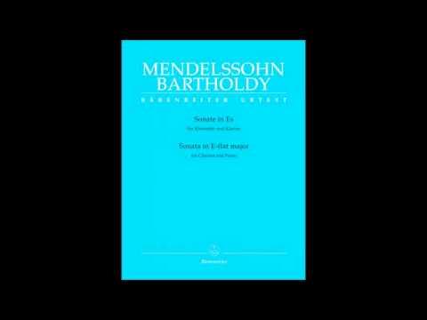 Mendelssohn - Sonata for Clarinet and Piano - 1 -Adagio - Allegro moderato