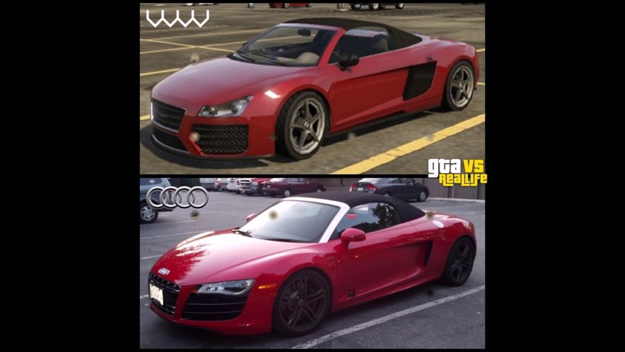 GTA VS REAL LIFE CARS AND PLACES 3