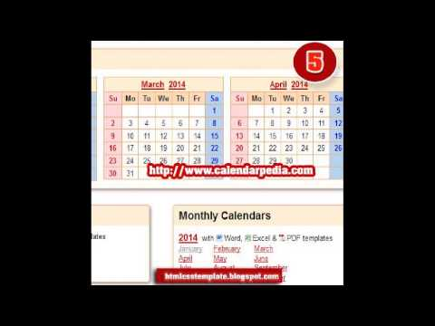 10 websites to Download free Calendar Template