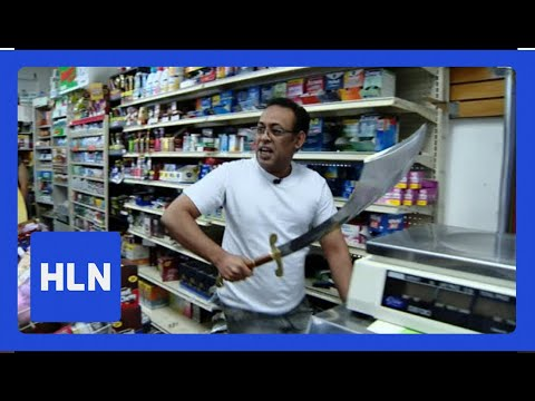 Walton And Johnson - Clerk Defends Store W/ Giant Sword (video)