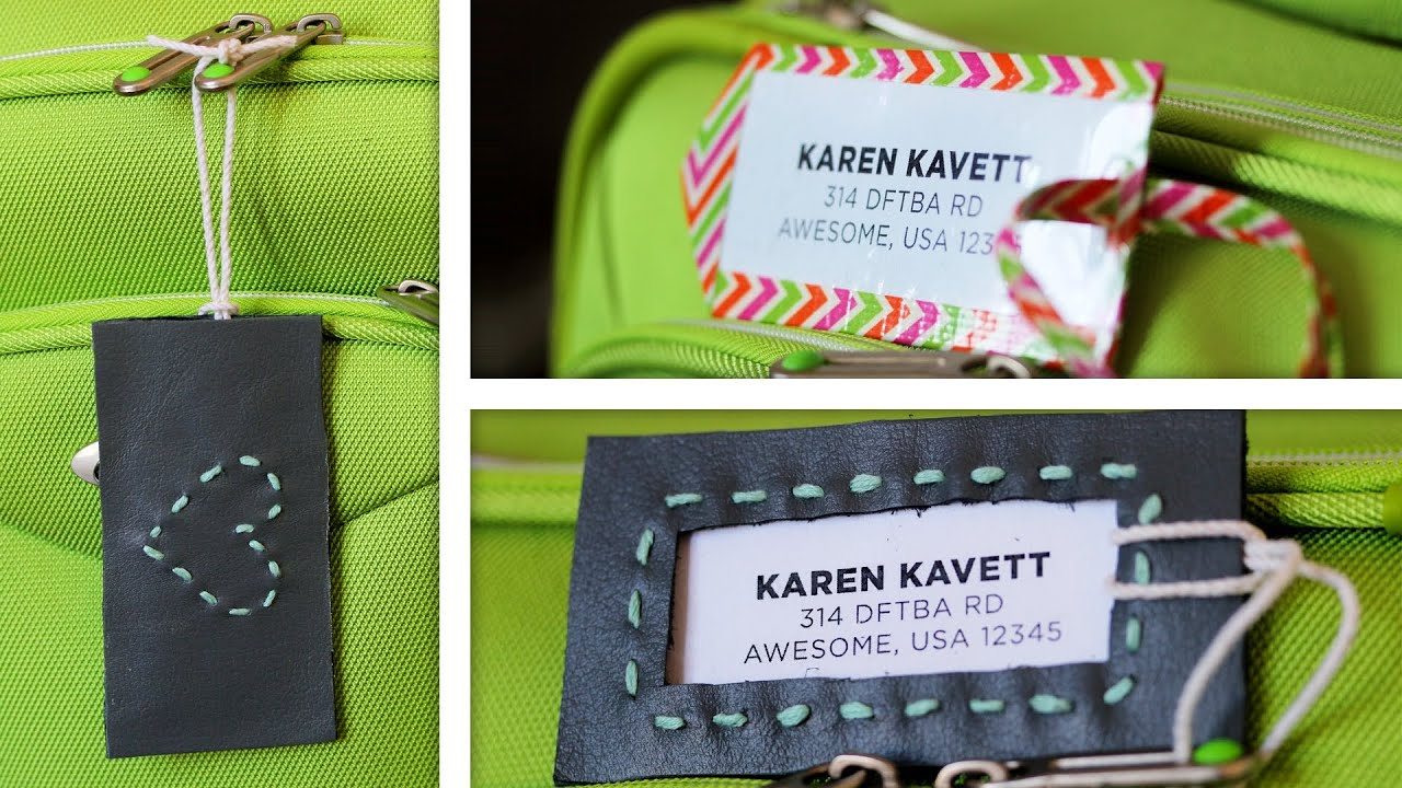 Diy Duct Tape And Leather Luggage Tags Youtube