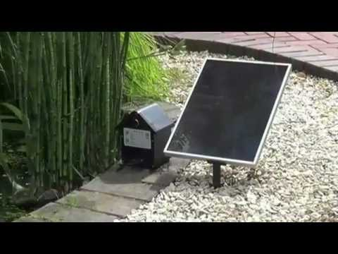Bermuda saturn solar pond fountain pump youtube for Solar water filter for ponds