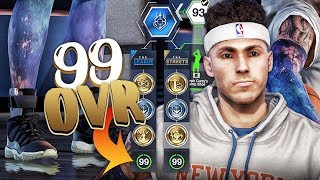 First ever 99 overall nba live 18 player! upgrading max attributes and *legendary* clothing