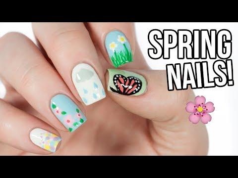 5 Cute Nail Art Designs For SPRING! 🌸