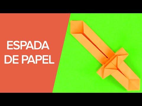 Espada de papel paso a paso origami para ni os youtube - Papiroflexia paso a paso ...
