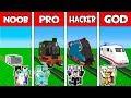 Minecraft - NOOB Vs PRO Vs HACKER Vs GOD : FAMILY TRAIN In Minecraft Animation