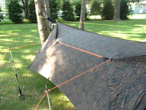 Warbonnet Ridgerunner hammock with Superfly tarp & Warbonnet Ridgerunner hammock with Superfly tarp - YouTube