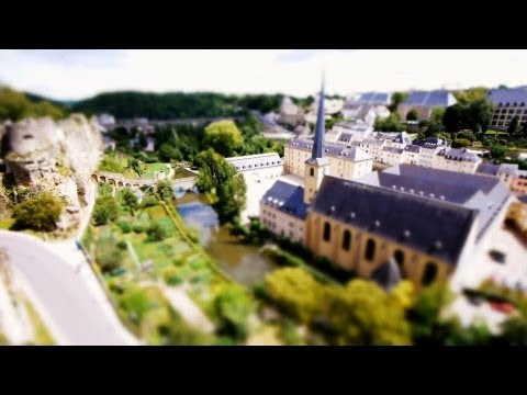 Little Luxembourg (Time-Lapse ,Tilt-Shift)