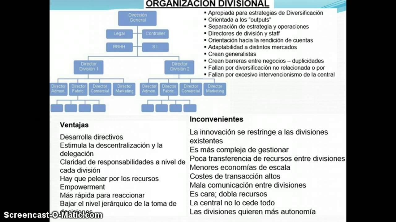 Organizacion Divisional Youtube