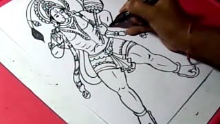 How to Draw LORD VEERA HANUMAN DRAWING for KIDS