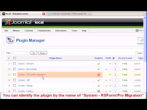 Migrate Joomla!  Forms From RSForm! To RSForm! Pro