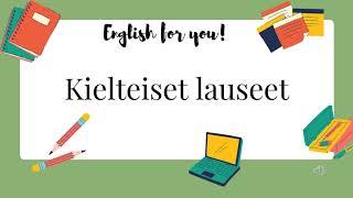 Englannin kielioppi - Kielteiset lauseet
