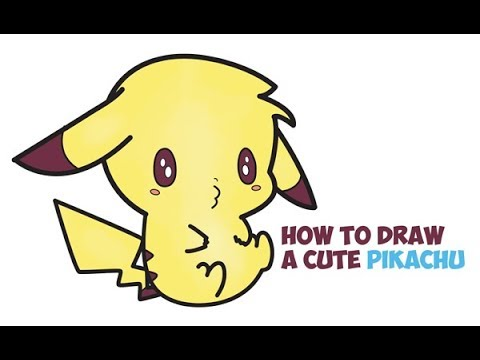 How To Draw Pikachu Cute Baby Kawaii Chibi Easy Step By Step Drawing For  Kids