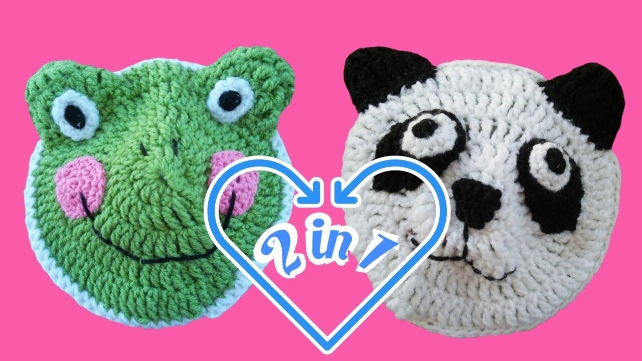 2 In 1 Frosch Und Pandabär Häkeln Youtube