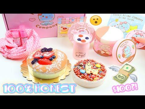 100% HONEST KAWAII SLIME COMPANY REVIEW (JAPANESE CHEESECAKE, ICE CREAM +MORE) $100?!