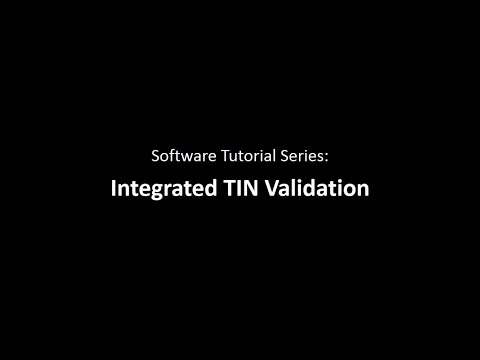Integrated TIN Validation & TIN Matching with 1099 Pro Tax Software