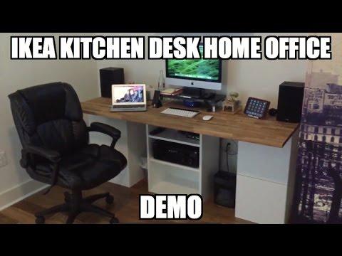 ikea kitchen desk hack part 3 leap motion vnc airplay voice control demo