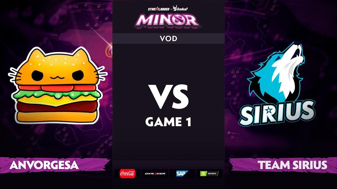 [EN] Anvorgesa vs Team Sirius, Game 1, StarLadder ImbaTV Dota 2 Minor S2, Playoffs