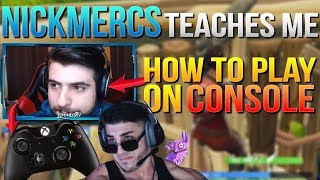 NickMercs Teaches Me How To Play Fortnite With A Controller (Fortnite Battle Royale)