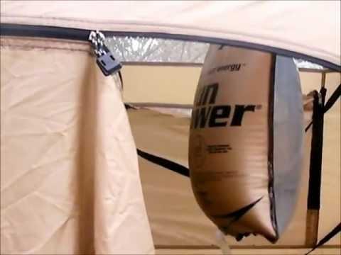 Stearns Solar Shower and Ozark Trail portable shower enclosure ...