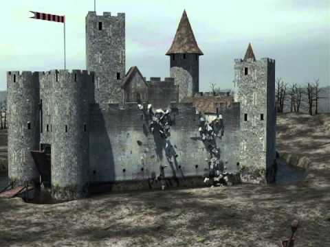 3DS Max Castle Attack - YouTube