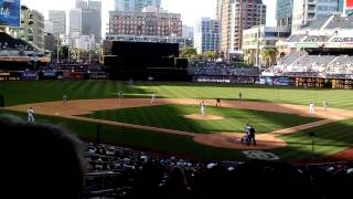 Petco Park in San Diego, CA. Padres vs Dodgers. Premier club seats Row 14.