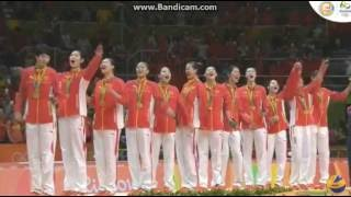 China Women's Volleyball wins Gold Medal at Olympics Rio 2016
