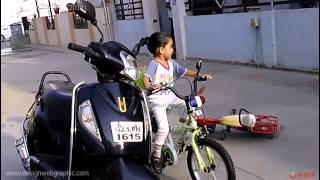 Kavil Drives New Bicycle HLX NMC Sports Bike with Training Wheel in Ahmedabad