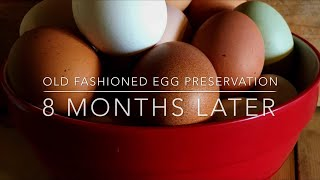 OLD FASHIONED EGG PRESERVATION UPDATE - 8 MONTHS LATER WITH NO REFRIGERATION!