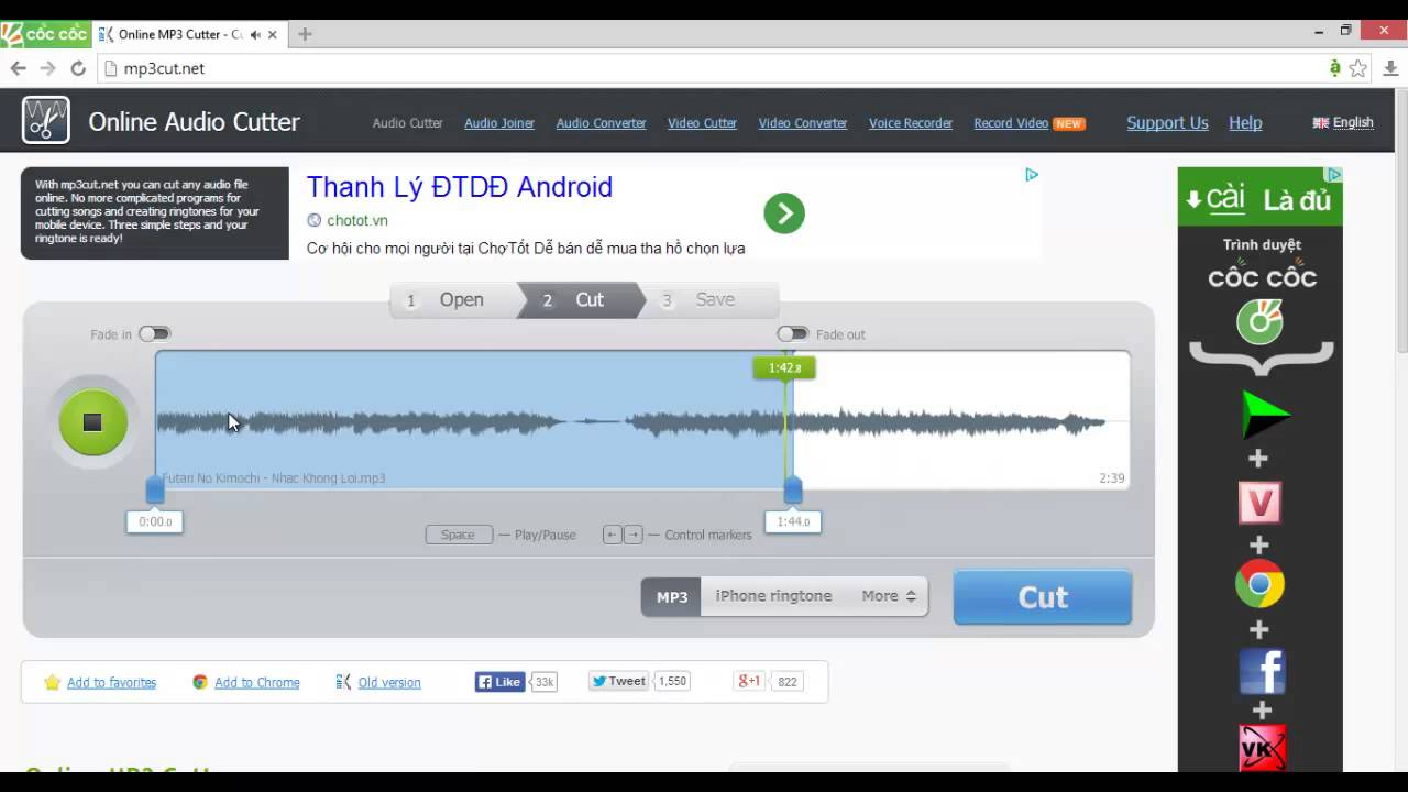 Online Audio Cutter Youtube