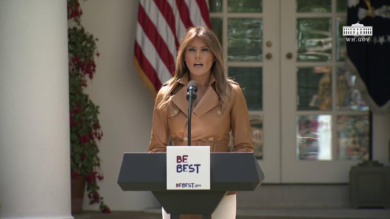Hasil gambar untuk First Lady Melania Trump's Initiative Launch