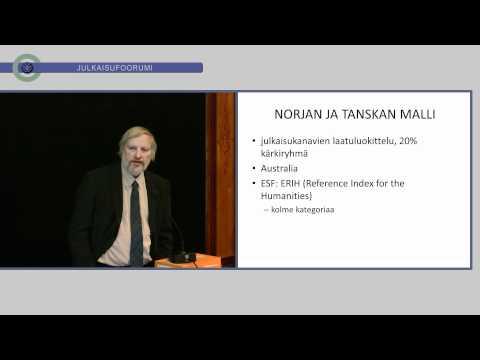 Ilkka Niiniluoto: Julkaisufoorumin tausta ja tarkoitus