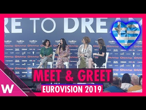 """Greece Press Conference: Katerine Duska """"Better Love"""" @ Eurovision 2019 