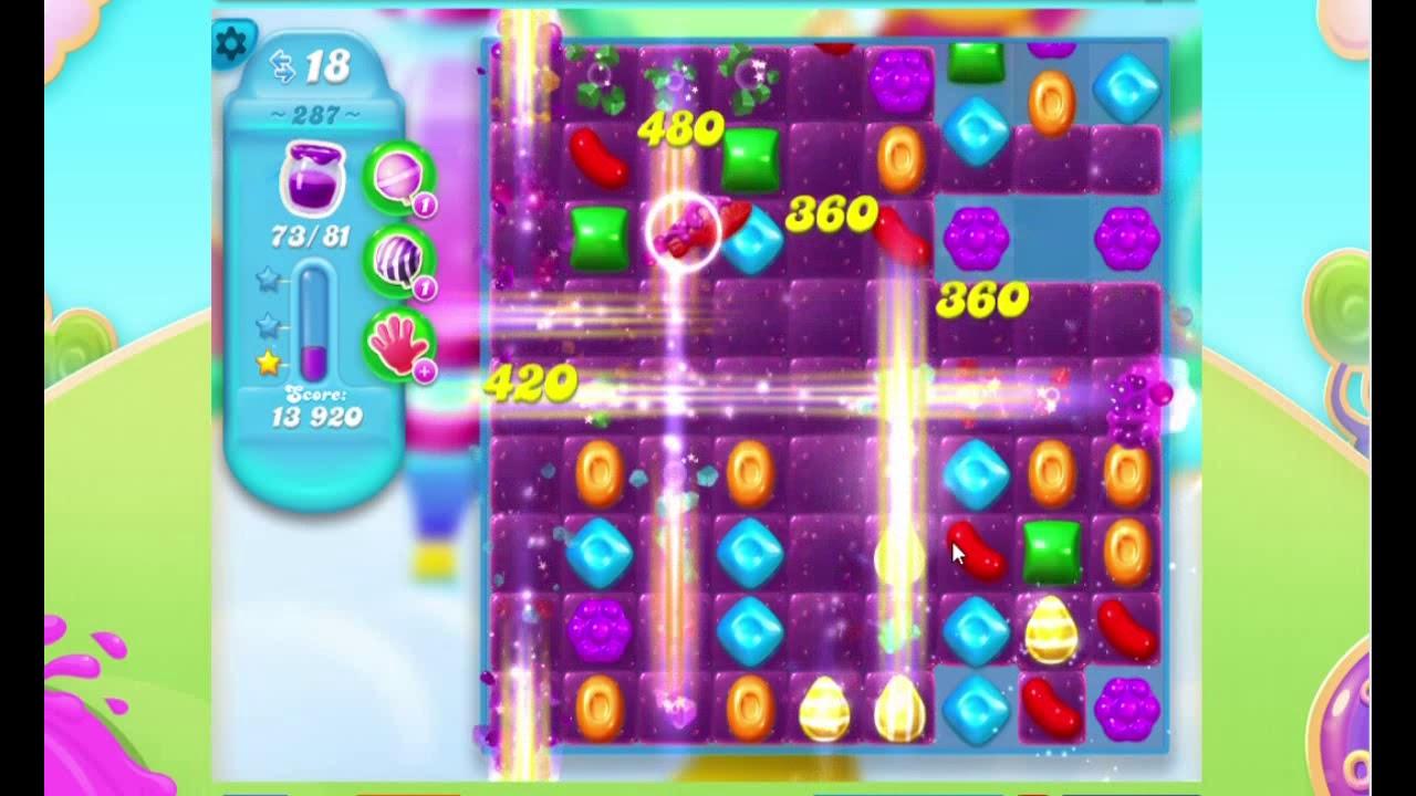Candy Crush Soda Saga LEVEL 287 (3 STAR)