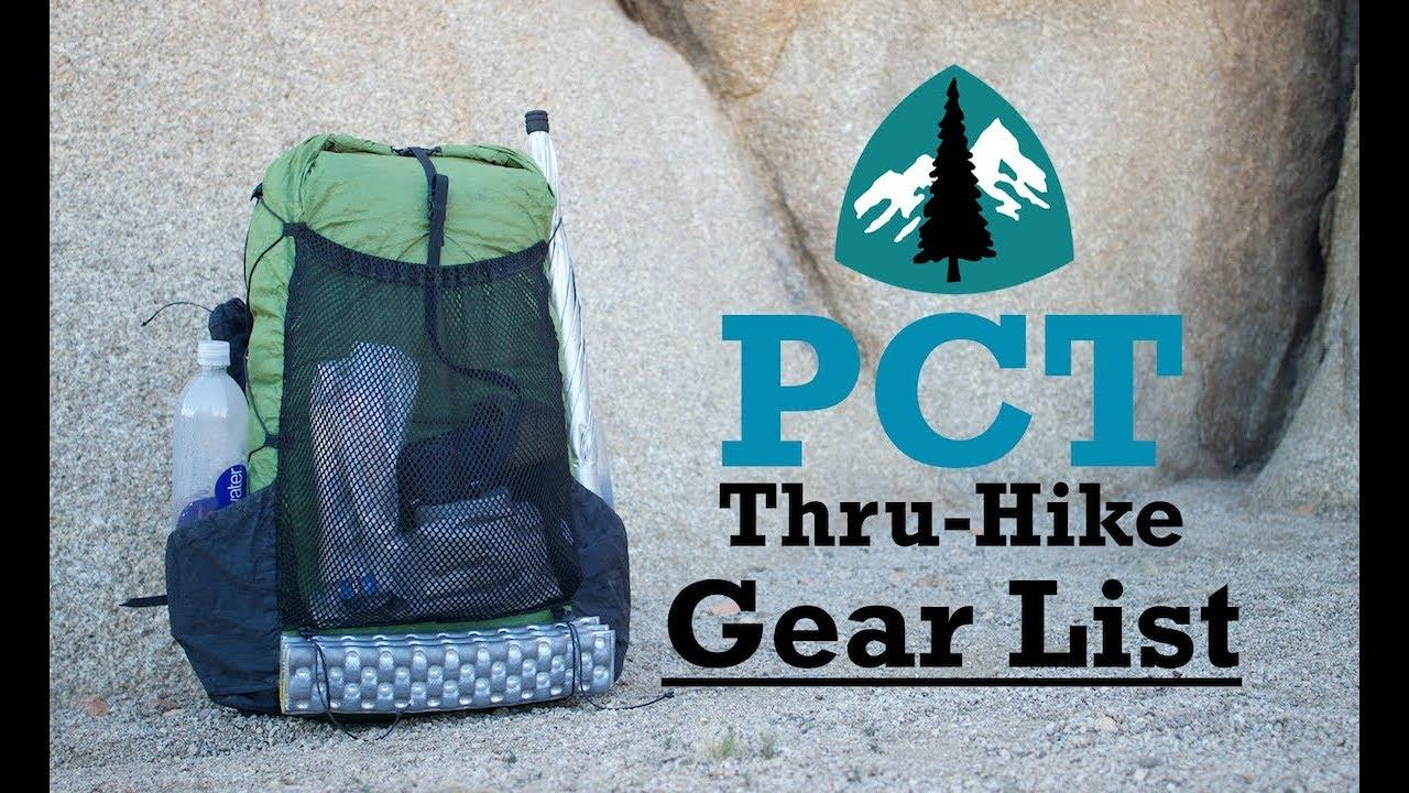 PCT Thru-Hike Gear List (FINAL)