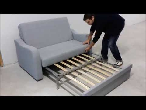 Sof cama 2 plazas ideal para peque os espacios youtube for Sofa cama una plaza conforama