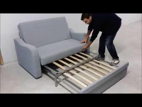 Sof cama 2 plazas ideal para pequeos espacios  YouTube