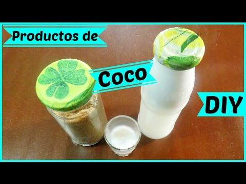 Como hacer Aceite, Harina y Leche de coco (Fácil)   ♥L.C.M ♥