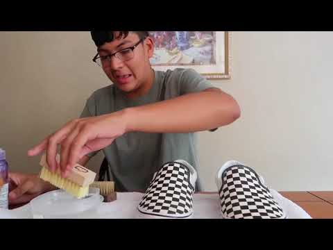 HOW TO CLEAN VANS WITH JASSON MARK SHOE CLEANER TIPS!!!