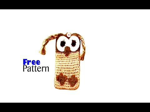 Crochet cell phone case cover pouch holder owl youtube dt1010fo