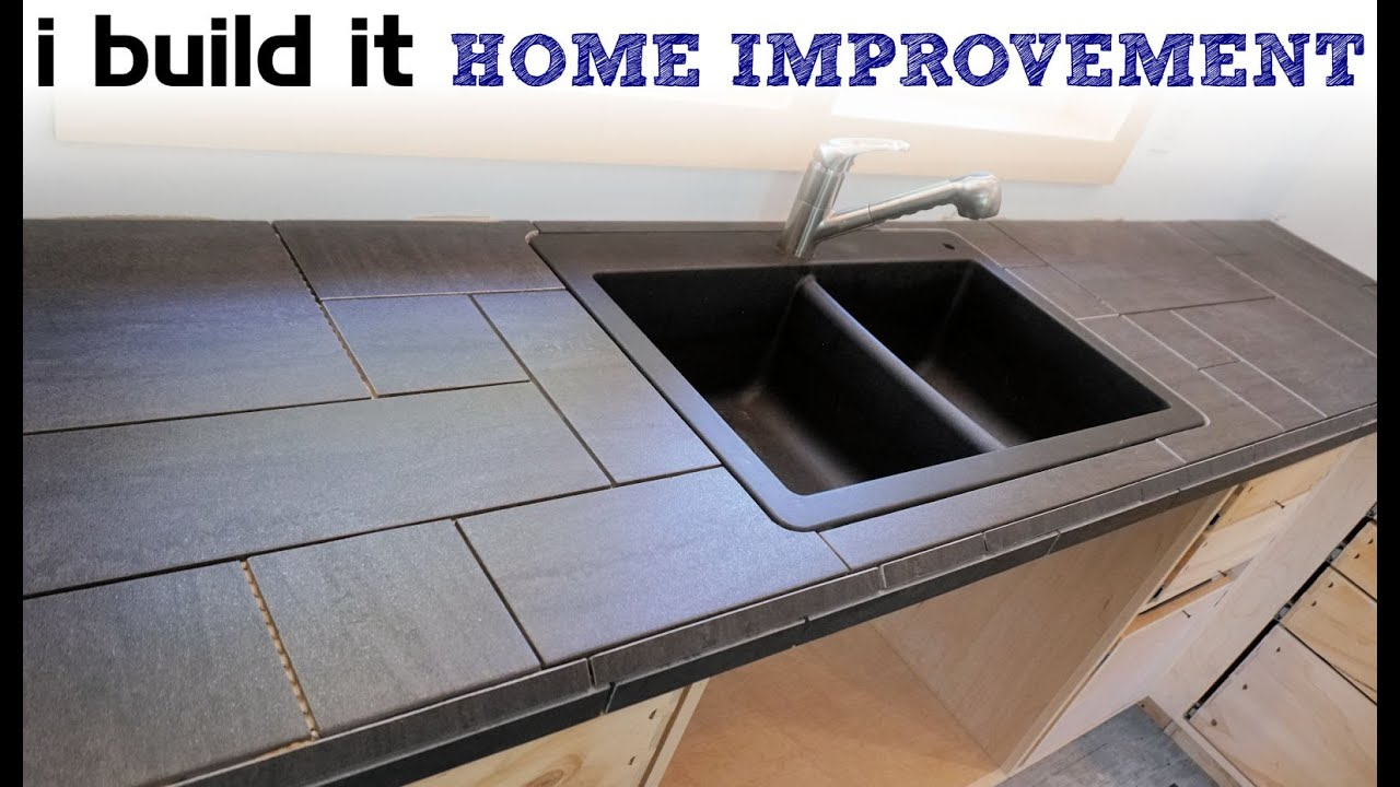 how to install a tile counter top