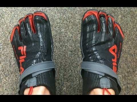 281896626534 FILA Skele-toes Shoe test - Review - YouTube
