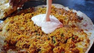 MELTING CHEESE MAGGI Noodles Dosa | Cheese Burst Dosa | Indian Street Food