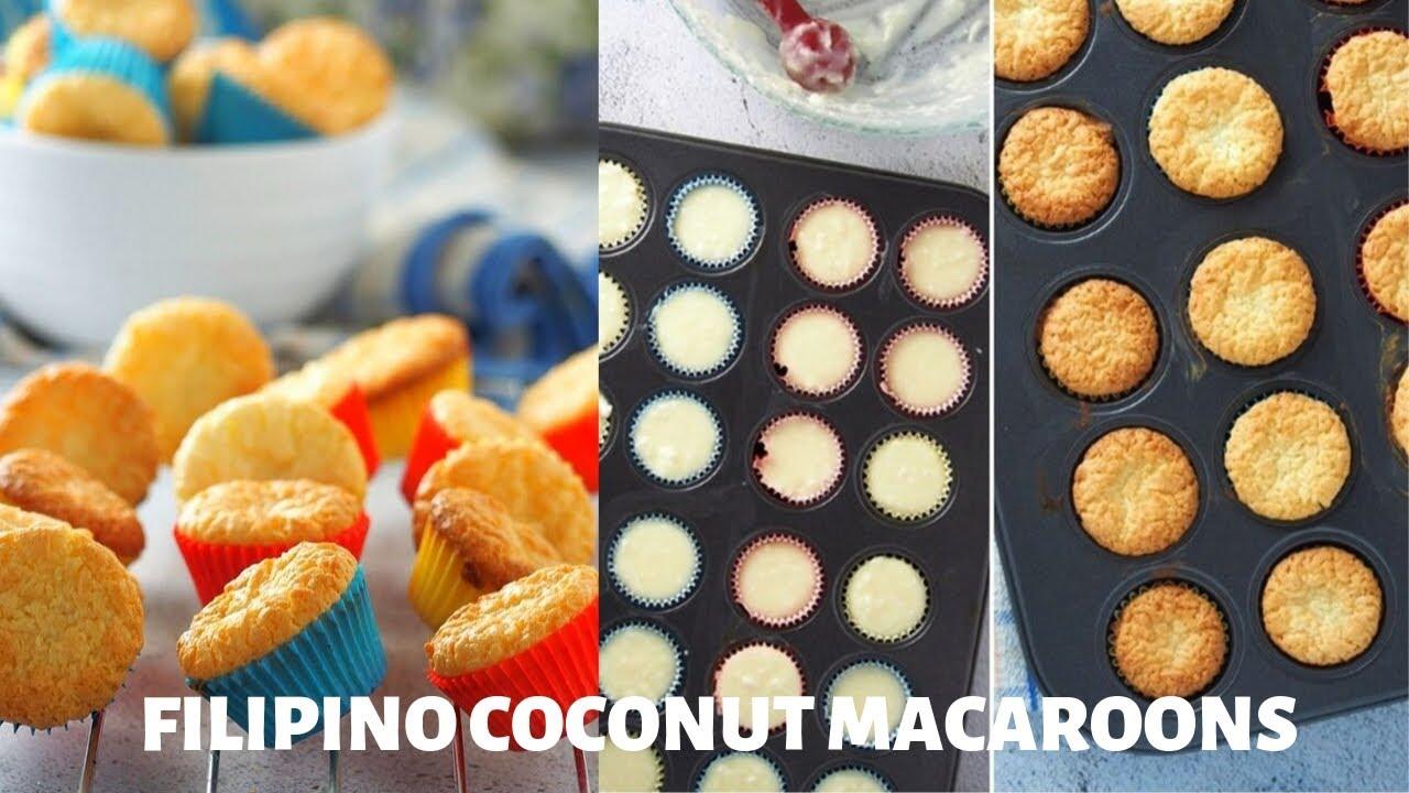 How To Make Filipino Coconut Macaroons Youtube