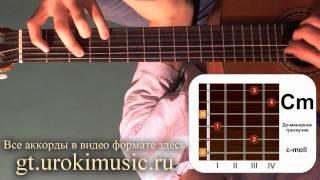 Аккорд Cm. До минор. C-moll. Как играть на гитаре. Позиция 1.