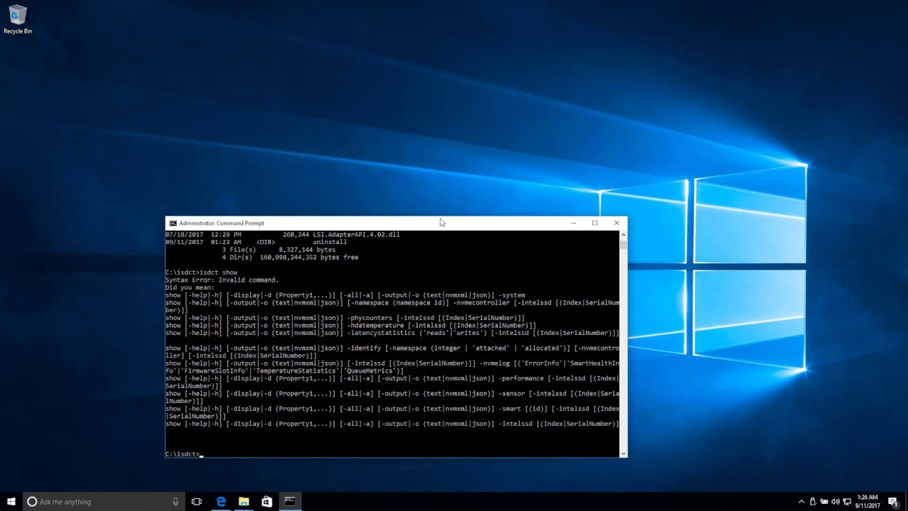 Ubuntu firmware update 320 P4800X success, Windows 10 and Intel isdc tool  used to nvme format